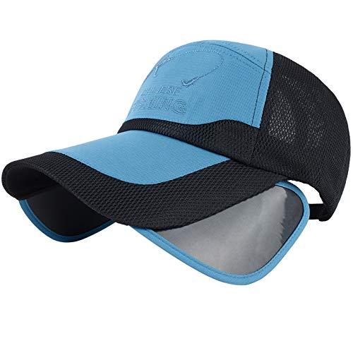 Vinteen Sombrero de Verano para Hombres Chapeau Protector Solar Sombrero para el Sol Visera Aumentar el Casquillo Aleros Malla Gorra de béisbol Transpirable Mujer Duck Lengua Cap Dicer