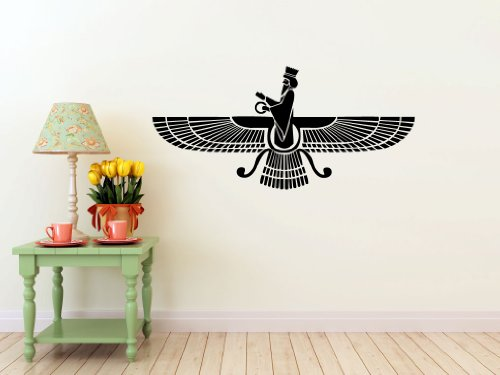 Farvahar Decal- Zoroastrian Persepolis, Persian -Wall Art, Sticker Art, Room, Home and Business Decor by Eyval Decal
