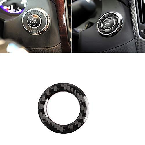 Marco interior de fibra de carbono para coche Fibra de carbono del coche de un solo clic del botón de inicio de decoración de interiores de modificación Accesorios pegatinas, adecuados for Infiniti Q5