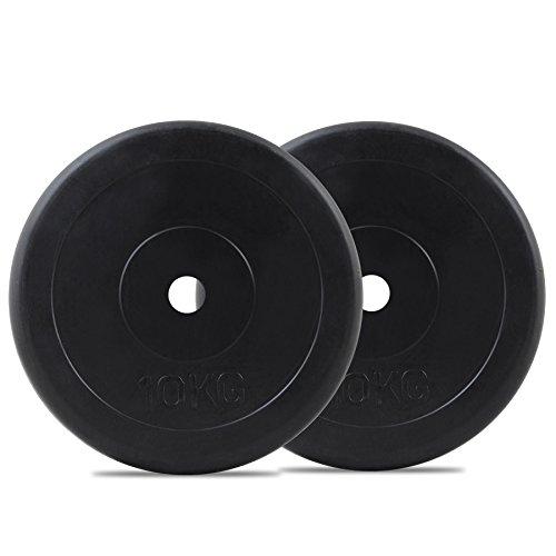 Bodymax Standard Rubber Weight Disc Plates - 2 x 10kg
