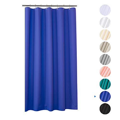 Plastic Shower Curtain, 48' W x 72' H EVA 8G Shower Curtain with Heavy Duty Clear Stones and Grommet Holes, Waterproof Thick Bathroom Plastic Shower Curtains Without Chemical Odor-Blue Purple