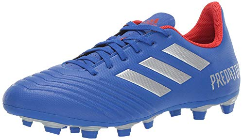adidas Men's Predator 19.4 Firm Ground, Bold Blue/Silver Metallic/Active red, 11 M US