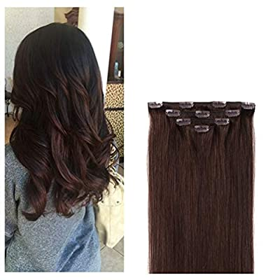 Clip in Hair Extensions Remy Human Hair for Women - 4pieces Silkly Straight Real Hair Pieces for Women