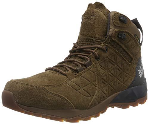Jack Wolfskin CASCADE HIKE LT TEXAPORE MID M Trekking- & Wanderstiefel Herren, Braun (Dark Wood/Phantom 5691), 43 EU