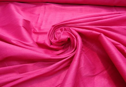 LUVFABRICS Fuchsia Shantung Dupioni Faux Silk Fabric Per Yard