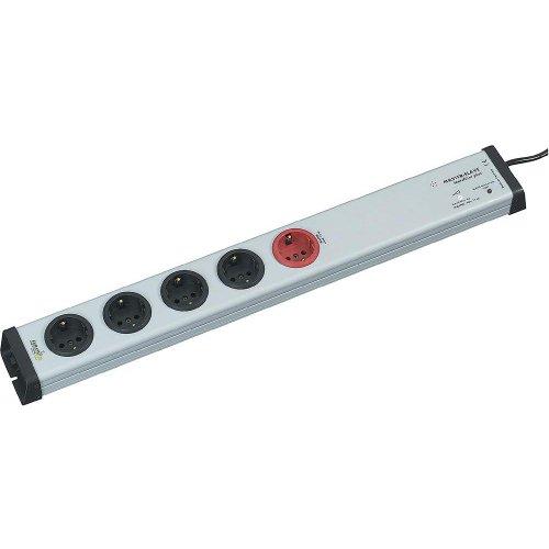 Ehmann 0213x00052301 5fach Master-Slave Steckdosenleiste mit Überspannungsschutz und Netzfilter Gra