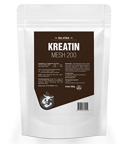 TOTAL CREATINE (500g = 100 Portionen) | Kreatin Pulver im hochwertigen Micro Mesh 200 | Mit Bockshornklee | Kreatin-Pulver zur Unterstützung im Kraftsport & Bodybuilding + Testosteron Booster