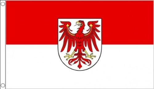 AZ FLAG Flagge Brandenburg 90x60cm - Brandenburg Fahne 60 x 90 cm - flaggen Top Qualität