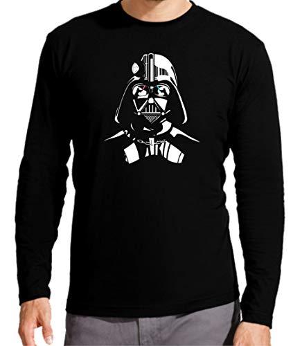 Camiseta Manga Larga de Hombre Star Wars R2D2 C2PO Dark Vader Han Solo Leia Estrella 3XL