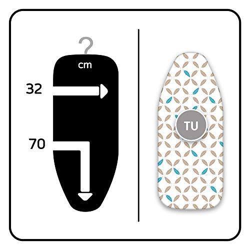 LaundrySpecialist TAFELPLANK OVERTREK 80 x 42 cm - universeel en geschikt voor alle standaard tafelplanken met een afmeting tot max. 76 x 36 cm