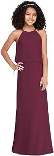 Halter Crinkle Chiffon Junior Bridesmaid Dress Style JB9879