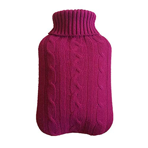 Zunbo - Botella de agua caliente de 2 litros, bolsa de agua caliente de goma para agua caliente de invierno, bolsa de agua caliente y fría (tapa de la bolsa de agua caliente)