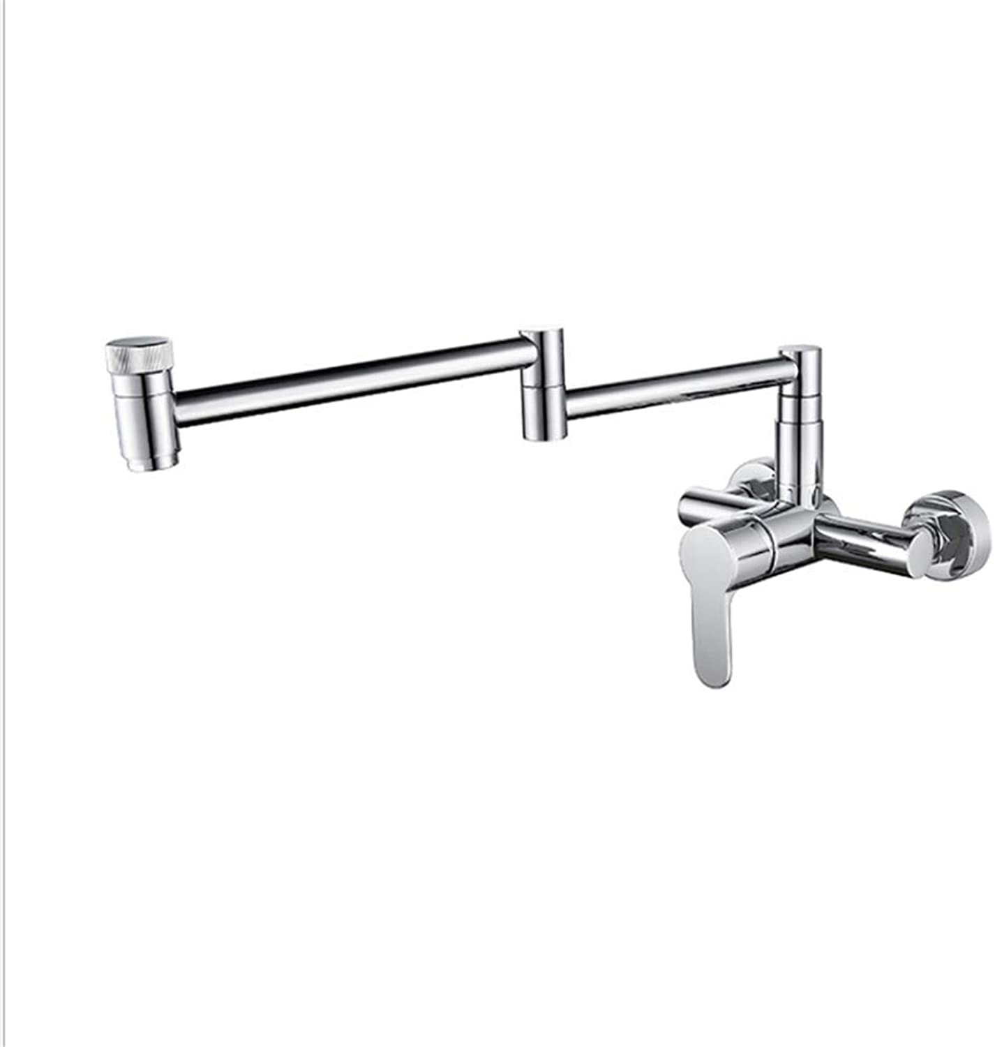 Basin Faucetcopper-Plated Chrome Wall-Mounted Faucet Foldable Universal redary Kitchen Sink Faucet Washing Pool Mop Pool Faucet