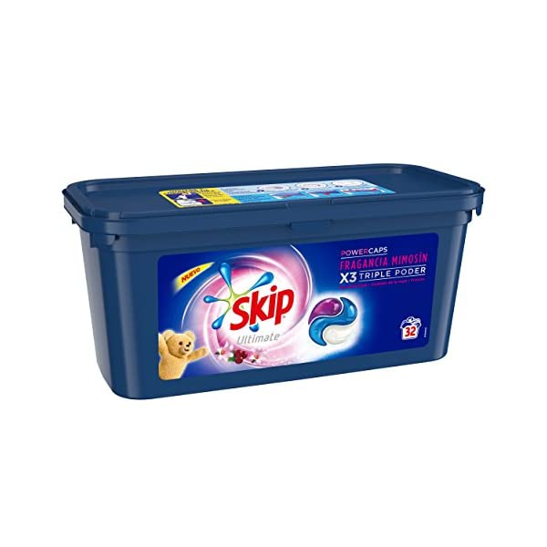 Skip Ultimate Triple Poder Detergente Capsulas Fragancia Mimosín – 32 Lavados