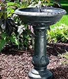 Ark Dcor- Backyard Water Fountains Outdoor - Black Fiberglass Resin with Pump - Bring Charm to Your Garden Or Veranda with This Eye-Catching Fountain