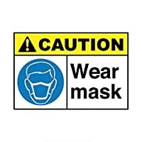 Jinling マスクの警告カードの車のステッカーPVCのアップリケのステッカー12x18cm (Color : 1)