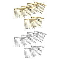 F Fityle 12ピース/個アイアン10歯のヘアコームサイドコームヘア