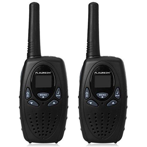 FLOUREON PMR Funkgerät 8 Kanäle Walkie Talkies 2-Wege Radio Walki Talki Funkhandy Interphone mit LCD Display Schwarz