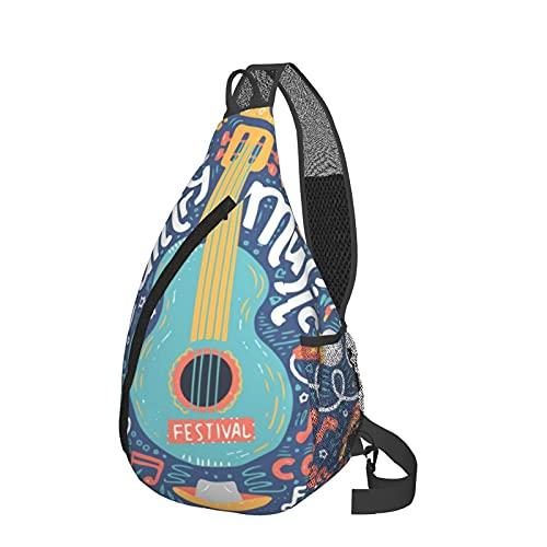 Mochila bandolera para festivales de música de campo, ligera, impermeable, bolsa de hombro, unisex, para viajes, senderismo, mochila pequeña para mujeres, hombres, regalos para niños
