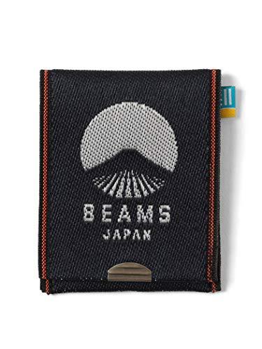 (ビームス ジャパン)BEAMS JAPAN/財布 小物 高田織物 × BEAMS JAPAN 別注 畳縁 ビームス ジャパン ロゴ カード & コイン ウォレット 紺×白 -