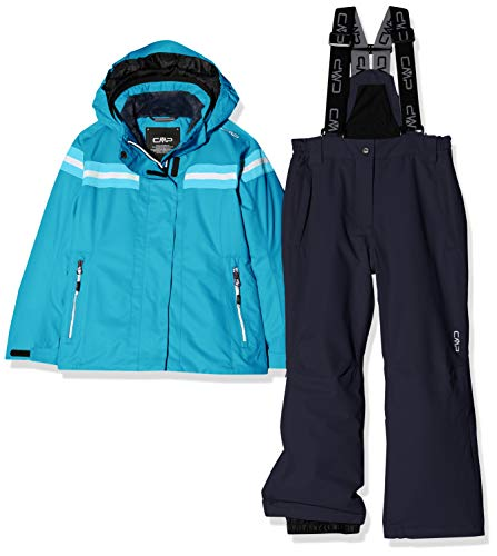 CMP Feel Warm Flat 5.000 39W1995, Set Giacca e Pantaloni Bambina, Curacao, 164