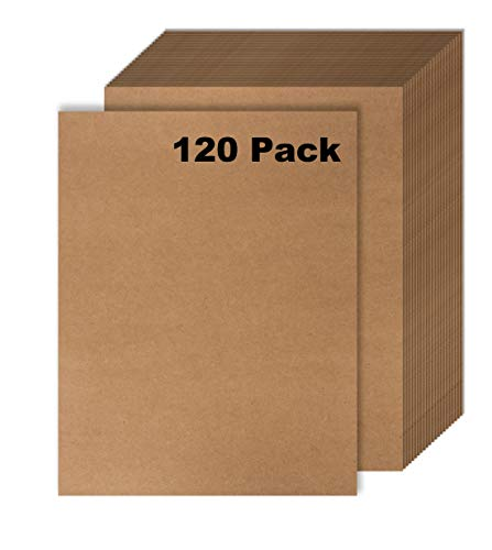 120 Pack Kraft Paper - Brown Stationery Paper- Brown Craft Paper for Arts and Craft, Drawing, D.I.Y. Projects - Letter Size Kraft Paper - Laser & Inkjet Printer Compatible - 8.5 x 11 Inches