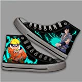Csqw Naruto Naruto Sasuke Pandilla Alta Zapatillas de Lona para Zapatillas de Deporte Unisex para niños y Adolescentes Zapatillas de cosplay-38