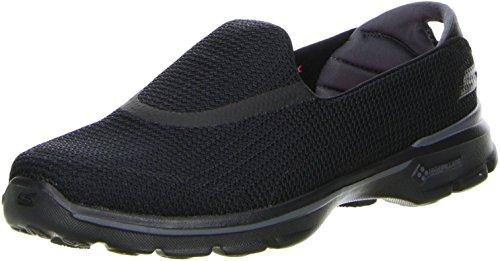 Skechers Performance Women's Go Walk 3 Slip-On Walking Shoe, Black, 8.5 M US