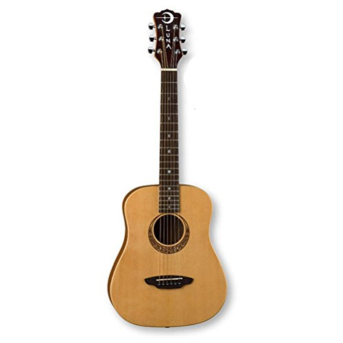 Luna Safari Series Muse Spruce 3/4-Size Travel Acoustic Guitar | Amazon