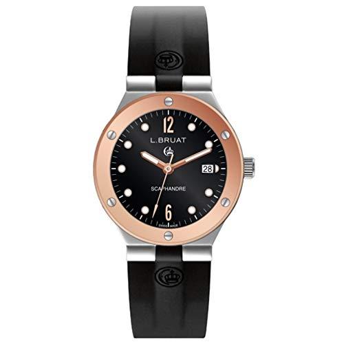 Reloj L.Bruat Hombre LB40 SCAPHANDRE Bisel pvd Oro Rosa 8409