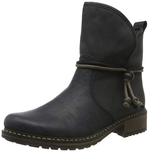 Rieker Damen Stiefel Z68K7, Frauen Klassische Stiefel,Boots,reißverschluss,weiblich,Lady,Ladies,Women's,Woman,blau (14),39 EU / 6 EU