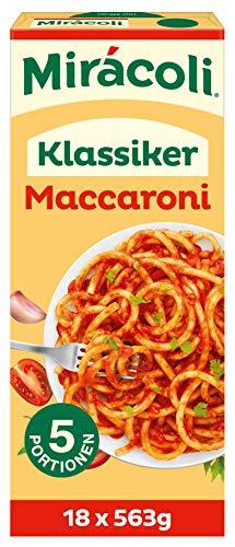 MIRÁCOLI Fertiggerichte Klassiker Maccaroni, 5 Portionen, 18 Packungen (18 x 563g)