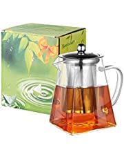 PluieSoleil ティーポット 耐熱ガラス 500ml 急須 ガラス 茶こし 割れない ガラス 紅茶ポット 紅茶とコーヒーに最適