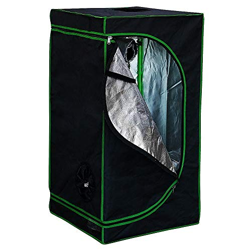 Melko Growbox 80x80x180 cm Growschrank Growzelt Zuchtzelte Zuchtschrank für Homegrowing Pflanzenzucht Ganzjährige Pflanze, Lichtdicht und Wasserdicht