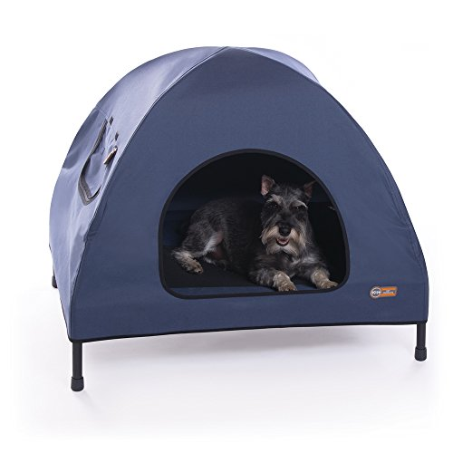 K&H Pet Products Original Pet Cot House Medium Navy Blue - Indoor & Outdoor Elevated Pet Bed & Shelter (25' x 32' x 28')