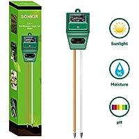 Sonkir MS02 3-In-1 Soil Moisture/Light/pH Tester Gardening Tool Kit