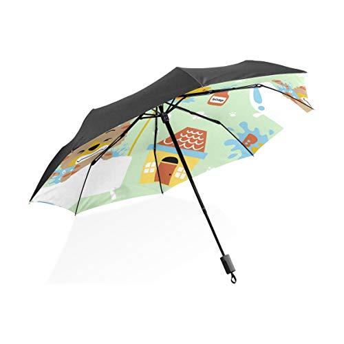 Große Regenschirme Winddicht Nette Kreative Living Home Badewanne Tragbare Kompakte Taschenschirm Anti Uv Schutz Winddicht Outdoor Reise Frauen Auto Regenschirm Für Kinder
