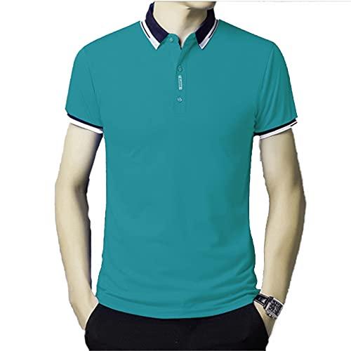 XDJSD Polos De Hombre, Camisetas Cortas, Camisetas De Manga Corta, Camisetas De Solapa, Tops Casuales De Marca De Moda De Color Puro, Polos De Solapa, Tops