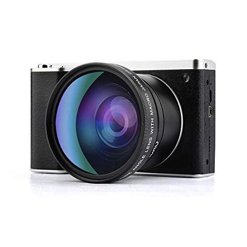 Cámara Digital, cámara Vlogging Cámara táctil de 4.0 Pulgadas Monitor de 24MP FHD 1080P Lente Gran Angular Cámara con Zoom Cámara Digital con Zoom Digital 8X y micrófono con Flash