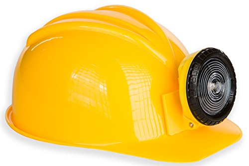 Kangaroo Adult or Kids Adjustable Construction Miner Hard Hat with Light