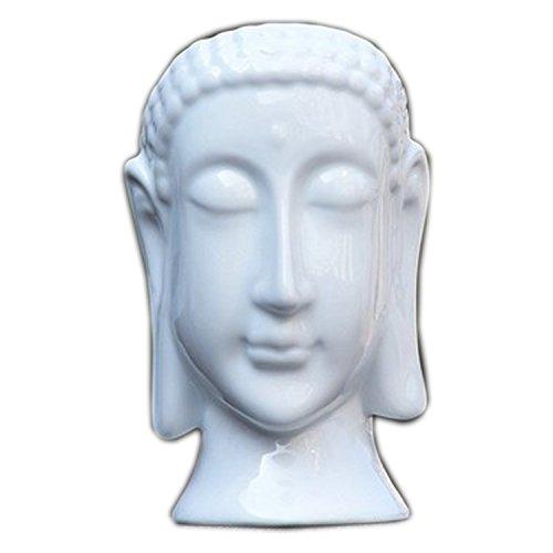 JynXos White Buddha Head Ceramic Flower Pots & Planters