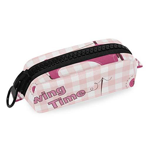 DEZIRO Make-up Bag Reizen Cosmetische Tas Roze Vintage Naaimachine voor Vrouwen Meisjes Make-up Borstels Tas