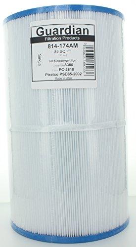Guardian Pool Spa Filter Replaces Unicel C-8380, Filbur FC-2810 Filter Cartridge Sundance Spa