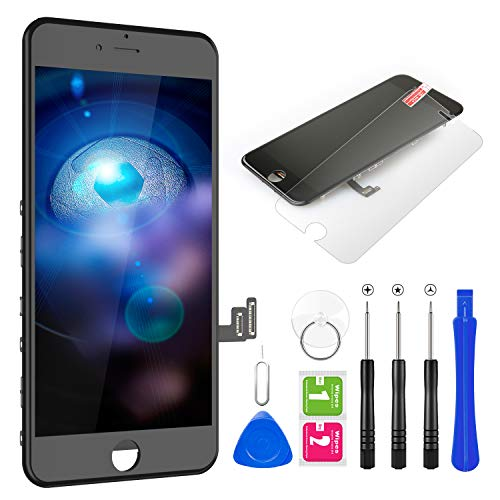 """BuTure for iPhone 8 Screen Replacement 4.7"""" LCD Display & Touch Screen Digitizer Frame Assembly with Magnetic Repair Tools and Screen Protector (Black)"""