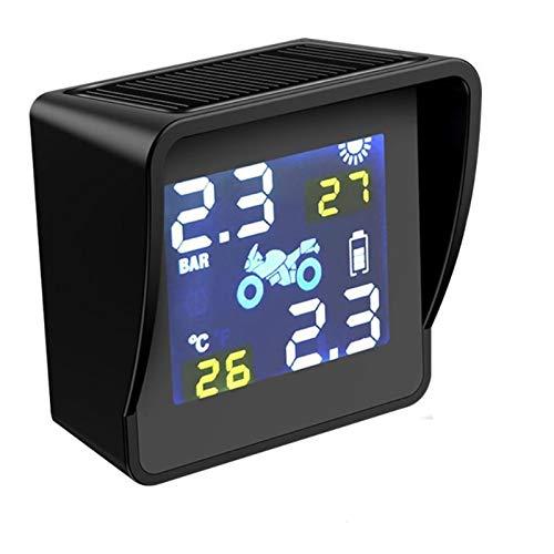 Sistema De Control De PresióN De NeumáTicos Coche USB CARGA SOLAR MOTORCO DE MOTORIA Presión de la presión Monitoreo de la temperatura del sistema de alarma Piezas de repuesto automático con 2 sensore