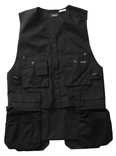 Blaklader Workwear Roughneck Kangaroo Vest, Large - 11-Ounce Cotton - Black