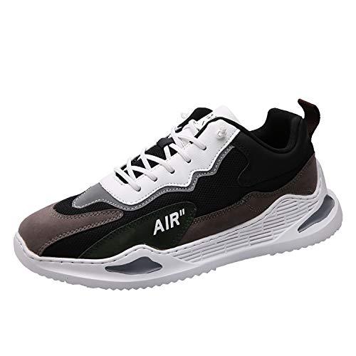 Phefee Zapatillas de deporte para hombre de moda deportivas deportivas para caminar y correr, color Negro, talla 39 1/3 EU