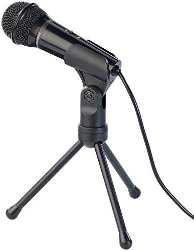 auvisio Stand Mikrofone: Kondensator-Mikrofon mit Stativ für PC und Notebook, 3,5-mm-Klinke (Tischmikrofon)