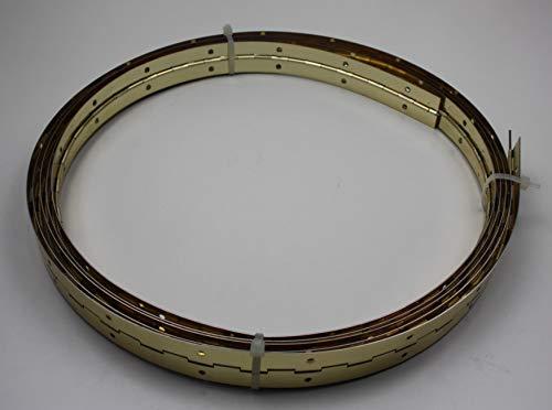 HKB® 1 Stangenscharnier, 5000 x 32 mm, Stahl vernickelt, Klavierband, Made in Germany 18414 (vermessingt)