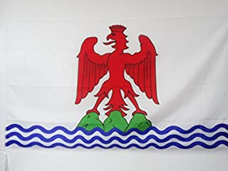 French County of Nice Flag 2' x 3' for a Pole - France - Niçard Country Flags 60 x 90 cm - Banner 2x3 ft with Hole - AZ FLAG